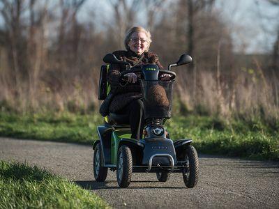 een nieuw leven voor Georgette dankzij de scooter